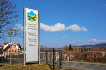 Stele Gemeindeverwaltung Großschönau