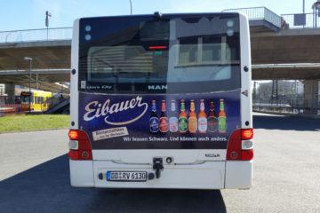 Busbeschriftung Eibauer Brauerei, Dresden