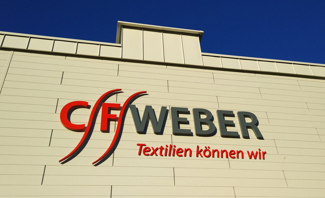 Fassadenschrift C.F. Weber Spitzkunnersdorf